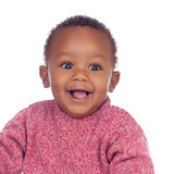 Adorable african baby smiling Stock Photos