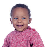 Adorable african baby smiling Stock Photo