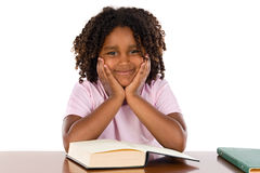 Adorable african girl studding Royalty Free Stock Photo
