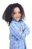 Adorable african little boy with beautiful Royalty Free Stock Photos
