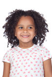 Adorable african little girl with beautiful hairst Royalty Free Stock Images