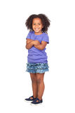 Adorable african little girl with beautiful hairst Stock Image