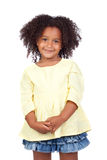 Adorable african little girl with beautiful hairst Stock Photos