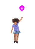 Adorable african little girl flying Stock Images