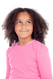Adorable african little girl. Isolated on a white background Stock Photos