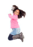 Adorable african little girl jumping Royalty Free Stock Images