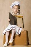 Adorable african little girl. Retro style studio s Royalty Free Stock Photos