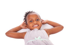 Adorable african little girl Stock Photos