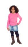 Adorable Afroamerican girl Royalty Free Stock Photos