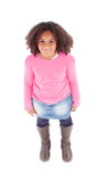 Adorable Afroamerican girl top view Stock Images