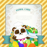 Adorable animal card template Royalty Free Stock Images