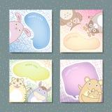Adorable animal memo pads set Stock Photography