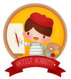 Adorable artist banner Stock Photos