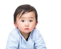 Adorable asian baby stock photo
