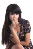 Adorable asian girl. Adorable long black hair asian girl Royalty Free Stock Photos