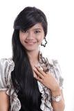 Adorable asian girl. Adorable long black hair asian girl Stock Images