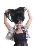 Adorable asian girl. Adorable long black hair asian girl Stock Photo