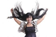 Adorable asian girl. Adorable long black hair asian girl Stock Photography