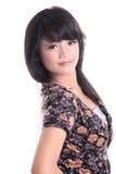Adorable asian girl. Adorable long black hair asian girl Royalty Free Stock Photography