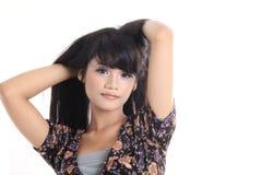 Adorable asian girl. Adorable long black hair asian girl Stock Photos