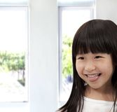 Adorable asian little girl Stock Photos