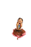 Adorable asian little girl jumping Stock Images