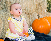 Adorable Autumn Baby Royalty Free Stock Photography