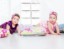 Babies crawling Stock Photo