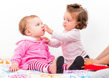 Adorable babies Stock Images