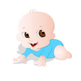 Adorable Baby. Lovely Design Art of Cute Adorable Baby Vector Illustration Royalty Free Stock Photography