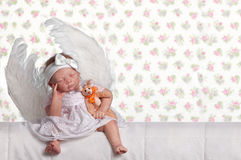 Adorable baby angel Royalty Free Stock Photography