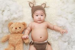 Adorable, Baby, Beanie Stock Photography