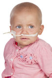 Adorable baby beating the disease Royalty Free Stock Photography