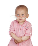 Adorable baby beating the disease Stock Photography