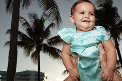 Free Adorable Baby Being Held Royalty Free Stock Image - 9502876