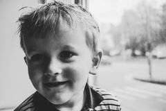 Adorable, Baby, Black-and-white, Boy Royalty Free Stock Images