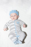 Adorable Baby with Blue Crown Royalty Free Stock Image