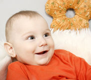 Adorable baby boy Stock Photos