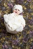 Adorable baby boy on background royalty free stock photography