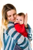 Adorable baby boy with mother Royalty Free Stock Photo