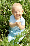 Adorable baby boy outdoors Royalty Free Stock Photo