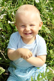 Adorable baby boy outdoors Royalty Free Stock Images