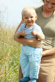 Adorable baby boy outdoors Royalty Free Stock Photography