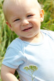 Adorable baby boy outdoors Royalty Free Stock Image