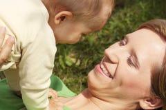 Adorable baby boy outdoors Royalty Free Stock Photos