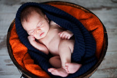 Adorable baby boy, sleeping Royalty Free Stock Photos
