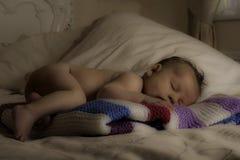 Adorable baby boy sleeping Stock Image
