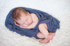 Adorable baby boy, sleeping Stock Photos