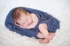 Adorable baby boy, sleeping Stock Photos