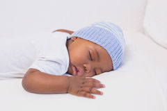 Adorable baby boy sleeping peacefully Royalty Free Stock Images